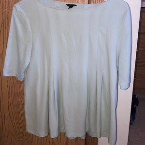 Mint Ann Taylor top with pleated details
